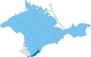 Yalta Municipality - Image: Карта схема Крыма Ялтинский горсовет