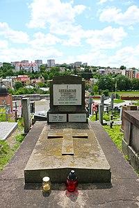 Львів, Личаківське кладовище, Гробниця, в якій похований Твердохліб С. А., український педагог і поет.jpg