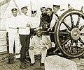 Офицеры и матрос транспорта Якут, Камчатка, 1910-е годы.jpg