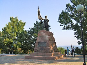 Taman, Russia - Amandus Adamson's monument to the first Kuban Cossacks (1911)