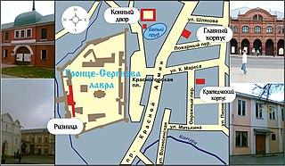 Схема расположения зданий Сергиево-Посадского музея-заповедника