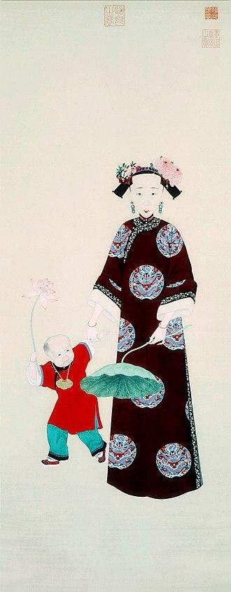 Empress Xiaoquancheng - Image: 《璇宫春霭图》