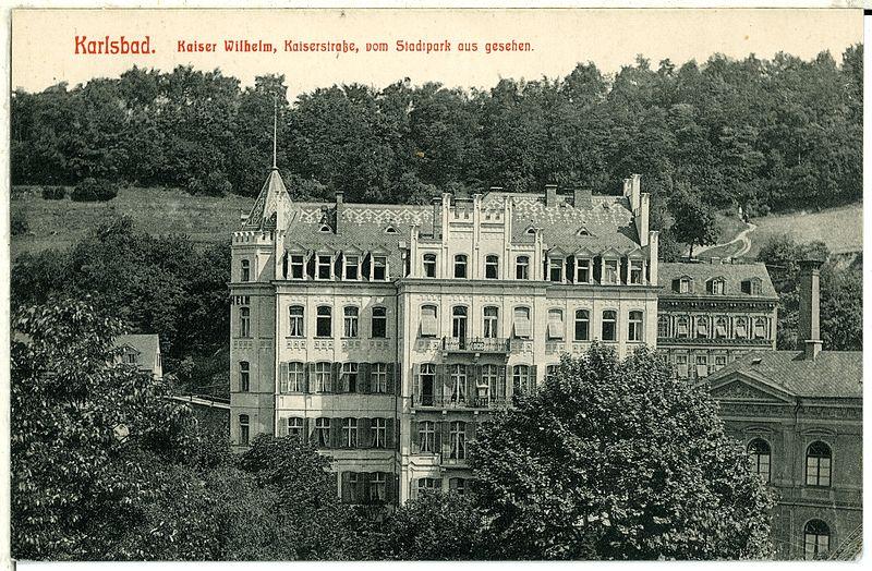 File:00612-Karlsbad-1898-Kaiser Wilhelm, Kaiserstraße-Brück & Sohn Kunstverlag.jpg