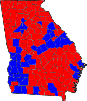 Georgia gubernatorial election, 2002 - Image: 02GAGov Counties