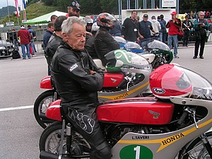 Luigi Taveri - Luigi Taveri at the Salzburgring circuit in 2006