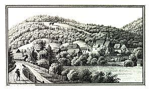Gratwein-Straßengel - Gratwein circa 1830, Lith. Anstalt J.F. Kaiser, Graz.