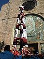 07 Els Castellers d'Esparreguera davant l'església de Santa Eulàlia (Esparreguera).JPG