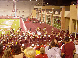 Spirit of Troy - The Spirit of Troy giving a traditional post-game concert, this time celebrating the defeat of the University of Arkansas in Razorback Stadium (2006)