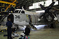 090312-M-6323R-002 U.S. Navy Sailors perform maintenance on a C-2 Greyhound.jpg
