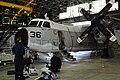 090312-M-6323R-002 U.S. Navy Sailors perform maintenance on a C-2 Greyhound.jpg