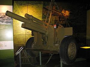 102nd Medium Battery, Royal Australian Artillery - M2A2 howitzer captured by North Vietnamese on display at Australian War Memorial.