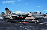 107th Tactical Fighter Squadron A-7D Corsair IIs on flight line.jpg