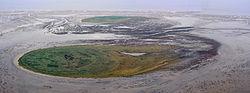 Insel Nigehörn, im Hintergrund Scharhörn