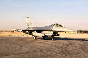 147th Reconnaissance Wing - F-16C Block 25E Fighting Falcon 84-1309 at Balad AB, Iraq with the 111th EFS seen here taxiing following its mission on 4 September 2005 where it reached the 6,000 flying-hour mark.