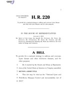 116th United States Congress H. R. 0000220 (1st session) - National Lyme and Tick-Borne Diseases Control and Accountability Act of 2019.pdf
