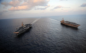 2011–12 Strait of Hormuz dispute - Abraham Lincoln and John C. Stennis (19 January 2012)