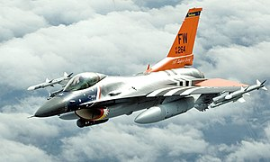 Fort Wayne Air National Guard Station - 122d FW F-16C 84-1264 in heritage motif, painted to pay homage to the 122d FW's history.