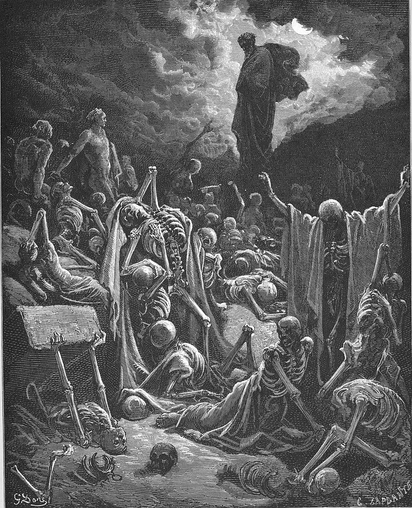 마른 뼈들의 환상 (귀스타브 도레, Gustave Dore, 1865년)