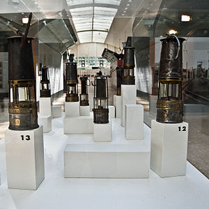 Serbariu coal mine museum - Collection of miners lamps