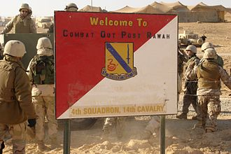 14th Cavalry Regiment - 4th Squadron at Combat Outpost Rawah, Iraq, in January 2006.