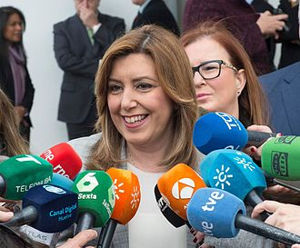 2017 Spanish Socialist Workers' Party leadership election - Susana Díaz on 13 March, the day after she confirmed her intention to launch her leadership bid on 26 March.