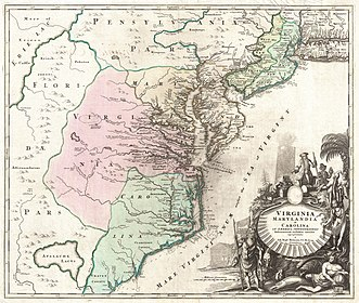 1715 Homann Map of Carolina, Virginia, Maryland and New Jersey - Geographicus - VirginiaMarylandiaCarolina-homann-1715.jpg