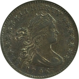 Nickel (United States coin) - A 1796 half dime