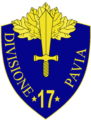 17th Infantry Division Pavia - 17th Infantry Division Pavia Insignia