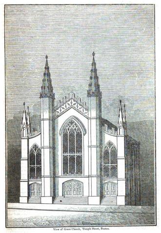 Grace Church (Boston) - Grace Church, Temple St., Boston, 1836