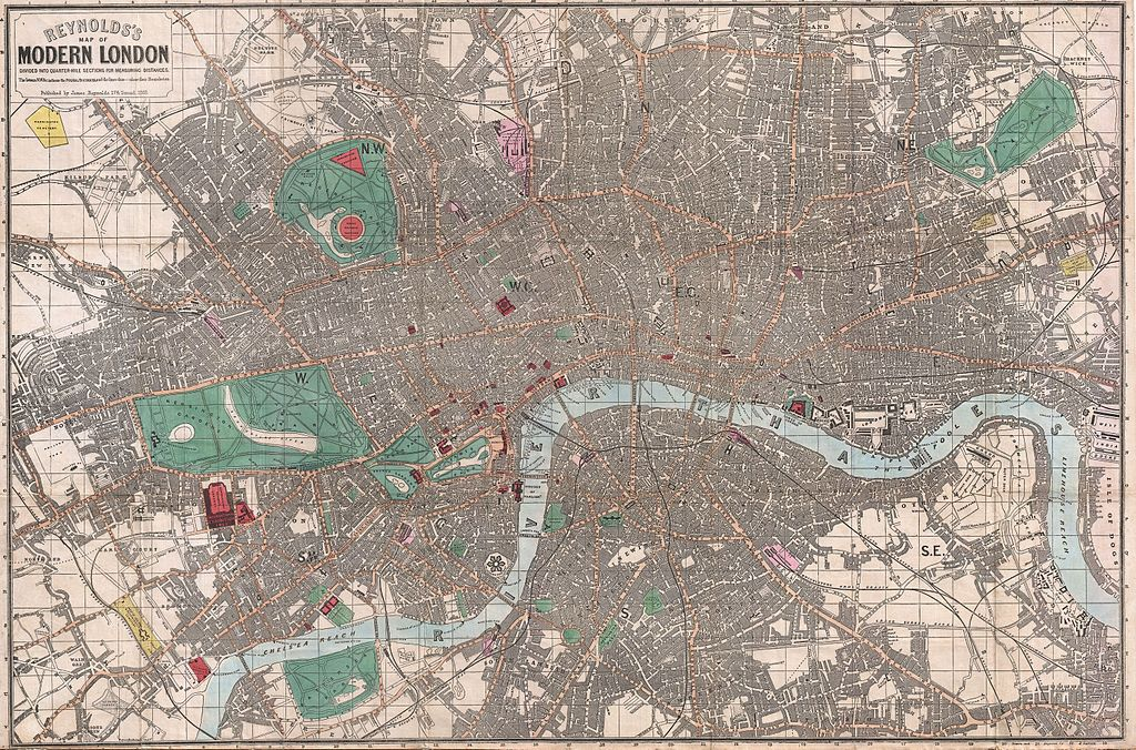 File 1862 Reynolds Pocket Map Of London England
