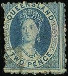 1868 2d wmk Q Queensland used Yv31 SG86.jpg