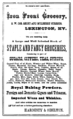 1875 Iron Front Grocery advert Lexington Kentucky.png