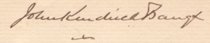 John Kendrick Bangs - Image: 1899 06 02 John Kendrick Bangs signature