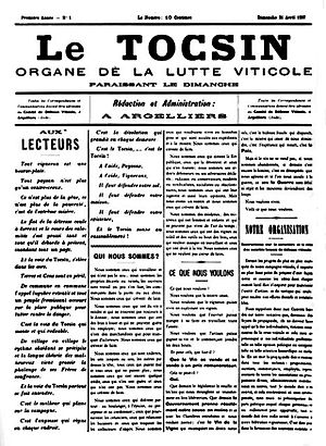 Argeliers - The first issue of Tocsin