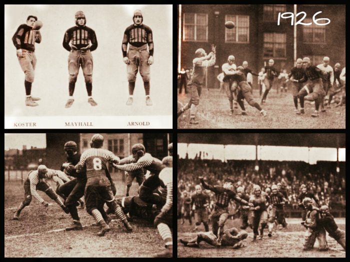 The 1926 football team saw success thanks to the direction of AD-Head Coach Tom King. 1926 Football Season.png