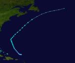 1933 Atlantika tropika ŝtormo 8 track.png
