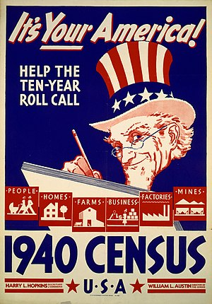 1940 United States Census - 1940 US Census poster