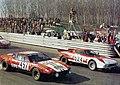 1973 Automotive Tour of Italy (Casale stage) - Casoni's De Tomaso Pantera Jolly Club, and Andruet's Lancia Stratos Marlboro.jpg