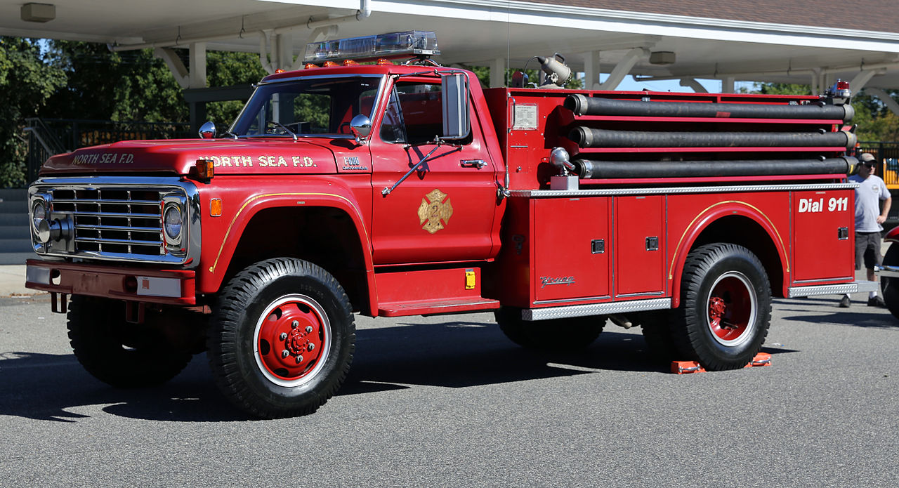 Ford Truck Parts >> File:1976 Ford F-600 Custom Cab pumper by Young, North Sea FD.jpg - Wikimedia Commons