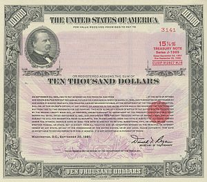 Security (finance) - 1981 $10,000 15.875% Registered Note