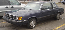 1985 1989 Dodge Aries Coupe 1983 Plymouth Reliant