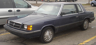 Plymouth Reliant - 1985–1989 Dodge Aries coupe