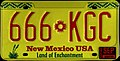 1990 New Mexico license plate 666*KGC.jpg