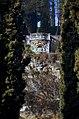 1993-1994-Giardino Giusti (Verona)-testo e photo Paolo Villa-nB03 Mascherone o grottesca sputafuoco, scultura manierista, mostro marino, balaustra, belvedere, colle calcareo San Pietro, Cipressi, Kodak EktachromeElite 100 5045 EB 100.jpg