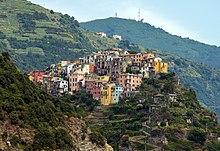 Veduta di Corniglia, frazione di Vernazza.