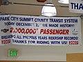 2,000,000th passenger sign for Park City Transit in 2007, Apr 16.jpg