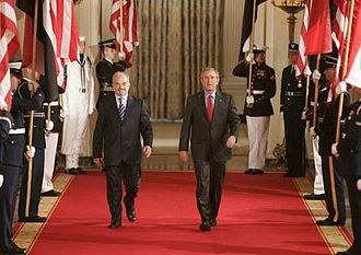 Ibrahim al-Jaafari - Jaafari with U.S. President George W. Bush, 24 June 2005