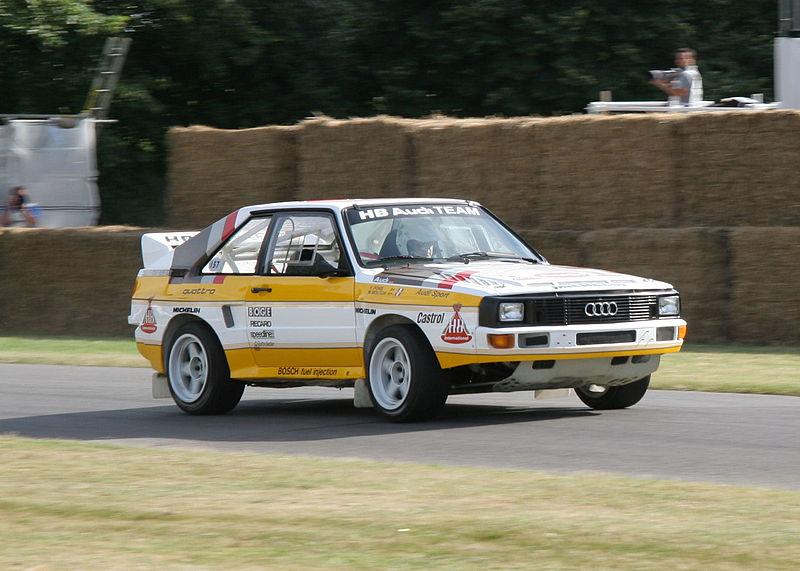 Audi quattro en el rally