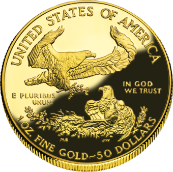 Gold coins are an example of legal tender that are traded for their intrinsic value, rather than their face value. 2006 AEGold Proof Rev.png