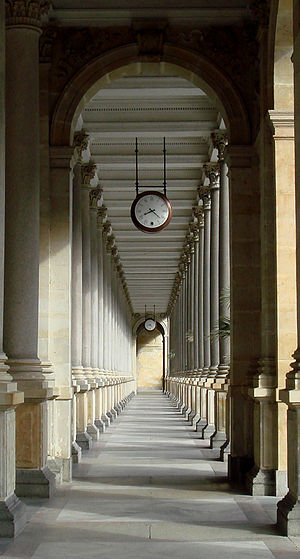 Mill Colonnade - The Mill Colonnade is supported by 124 columns.